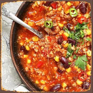 Chili Con Carne met zure room
