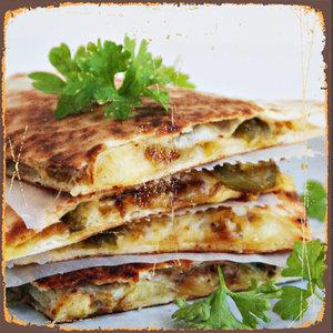 Quesadillas met jalapenos en kaas