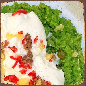 Burrata met avocado